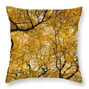 Full Yellow Throw Pillow