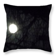 Fullmoon In Between The Trees  Throw Pillow