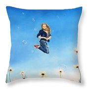 Fully Alive Throw Pillow