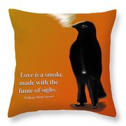 Fume Of Sighs - Williams Shakespeare Throw Pillow