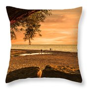 Fun At The Beach Throw Pillow