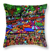 Fun Beach Throw Pillow