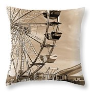 Fun Ferris Wheel Throw Pillow