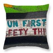 Fun First Throw Pillow