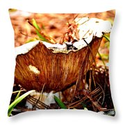 Fun Fungus Throw Pillow