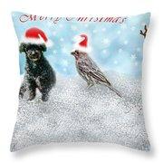 Fun Merry Christmas Card Throw Pillow
