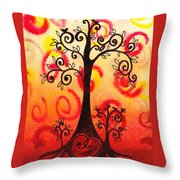 Fun Tree Of Life Impression Vi Throw Pillow