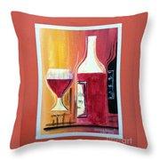 Fun Wine Time Throw Pillow