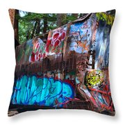 Function Junction Train Wreckage Throw Pillow