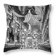 Funeral Dauphine, 1746 Throw Pillow