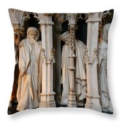 Funeral Procession Of The Friar - Palace Dijon Throw Pillow