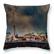 Funfair On The Pier Throw Pillow