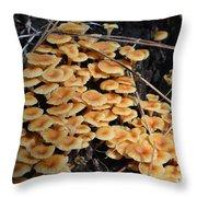 Fungi Community Throw Pillow