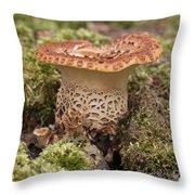 Fungi Wearing Lace Throw Pillow