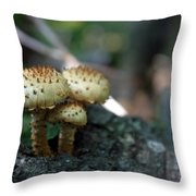 Fungus 8 Throw Pillow