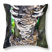 Fungus Invasion Throw Pillow