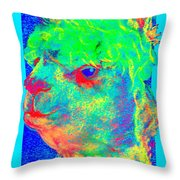 Funky Alpaca Baby Throw Pillow