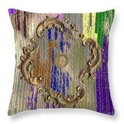 Funky British Shilling Throw Pillow