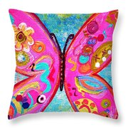 Funky Butterfly Throw Pillow