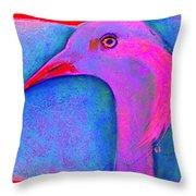 Funky Demoiselle Crane Bird Art Prints Throw Pillow
