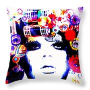 Funky Hair In Bali Throw Pillow by Funkpix Photo Hunter