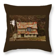 Funky House On 17 Mile Drive Throw Pillow