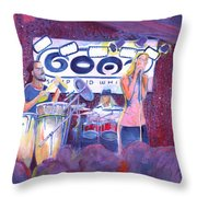 Funky Johnson At The Goat Throw Pillow