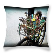 Funky Ride Throw Pillow