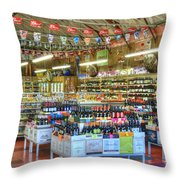 Funky Town Market Venice California Throw Pillow