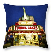 Funnel Cakes Throw Pillow
