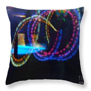 Funnel Of Lights Throw Pillow