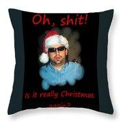 Funny Christmas Card Throw Pillow