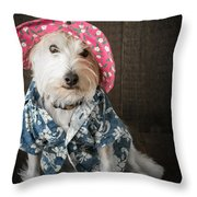 Funny Doggie Throw Pillow