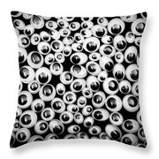 Funny Eyes Background Throw Pillow