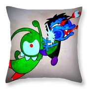Funny Friends Throw Pillow