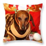 Funny Looking Reindeer Throw Pillow