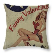 Funny Valentine Noseart Throw Pillow