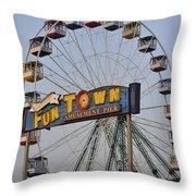 Funtown Ferris Wheel Throw Pillow