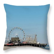 Funtown Pier Throw Pillow