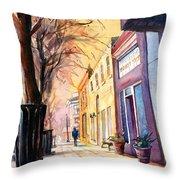 Fuquay-varina Downtown Throw Pillow