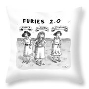 Furies 2.0 -- Ironia Throw Pillow