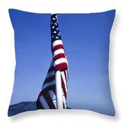 Furled Flag Throw Pillow