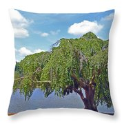 Furman Tree And Tower Throw Pillow