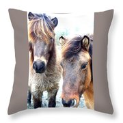 We Were The Most Furry Friends Throw Pillow