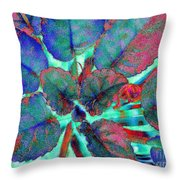Furry Leaves 1 Throw Pillow