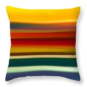 Fury Seascape Panoramic 2 Throw Pillow by Amy Vangsgard