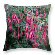 Fushia In The Raw Throw Pillow