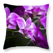 Fushia Orchid Throw Pillow