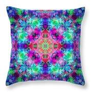 Fushia Rainbow Mandala Throw Pillow