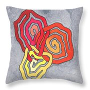 Fusion Of Colors Throw Pillow